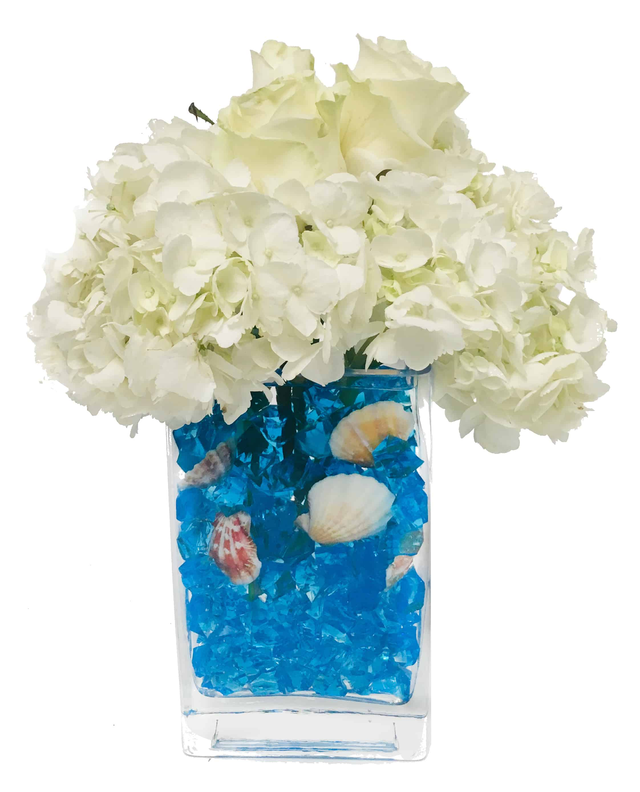Ocean Blue Flower Arrangement