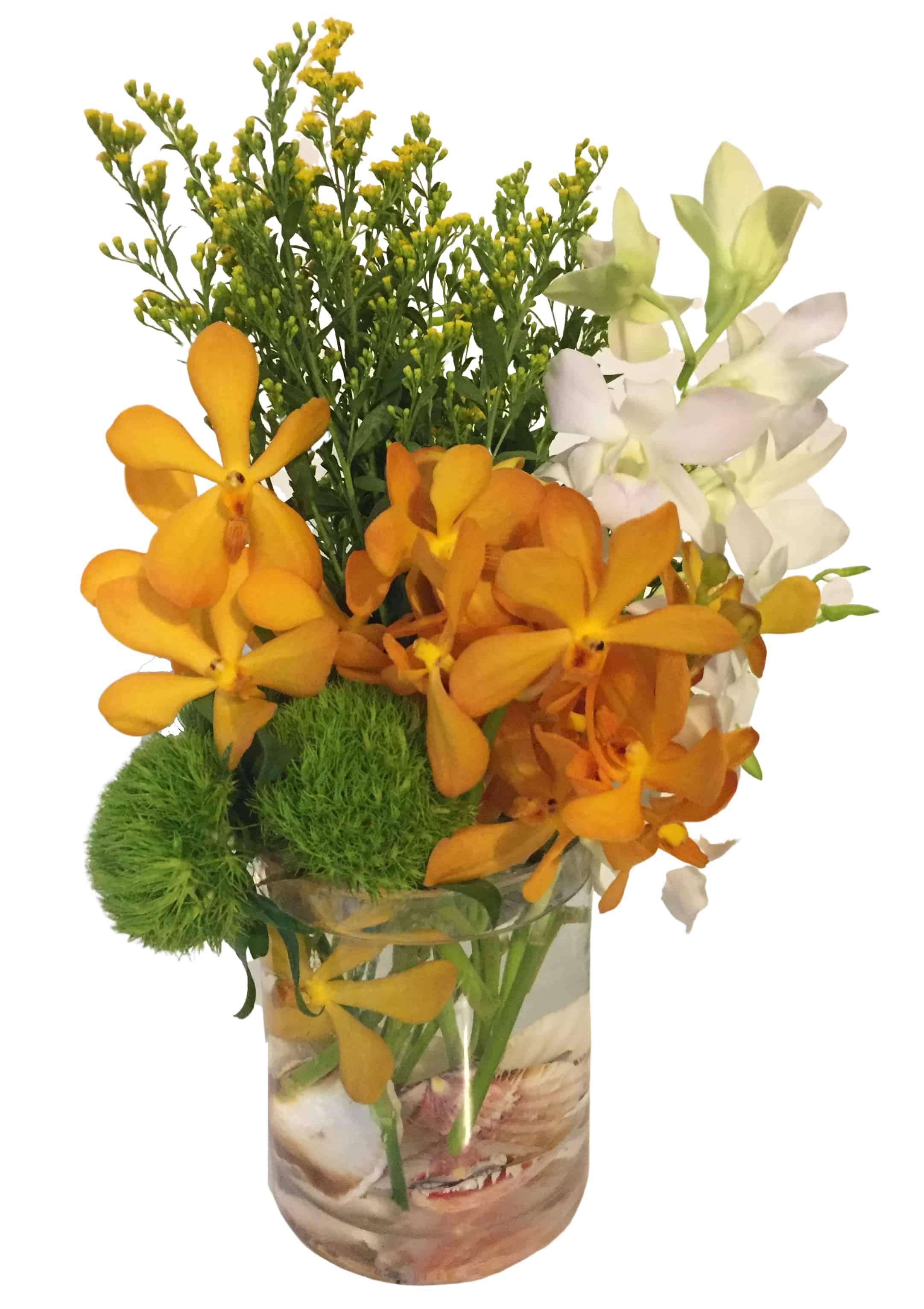 Orchid Shore Flower Arrangement