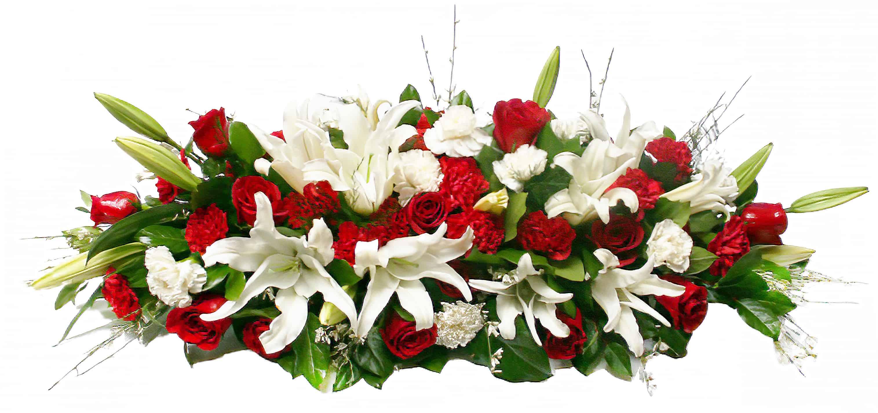Casket Funeral Piece - Flower Arrangement