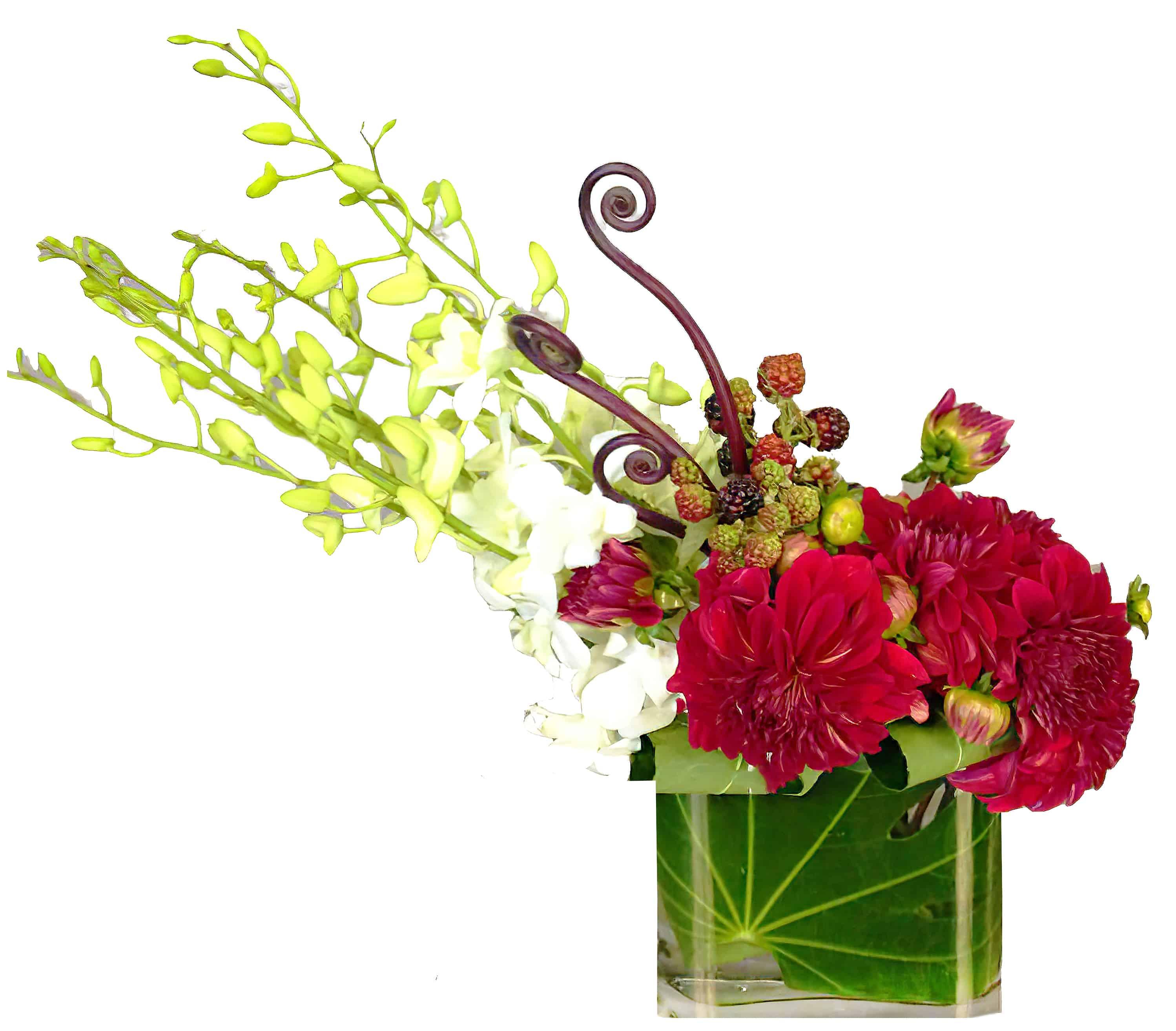 Raspberry Swirl Floral Arrangement