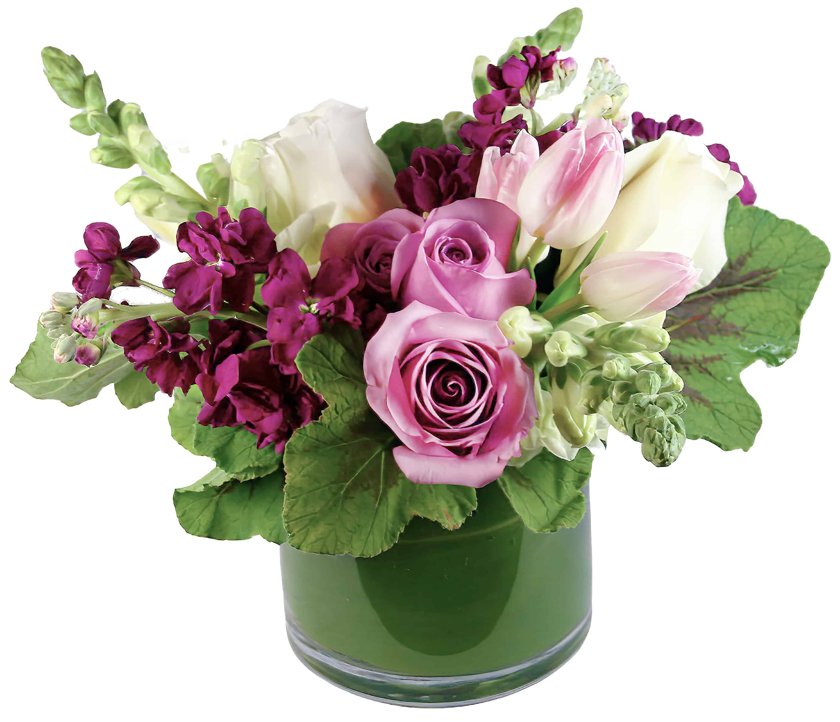 Burgundy Blossoms Arrangement