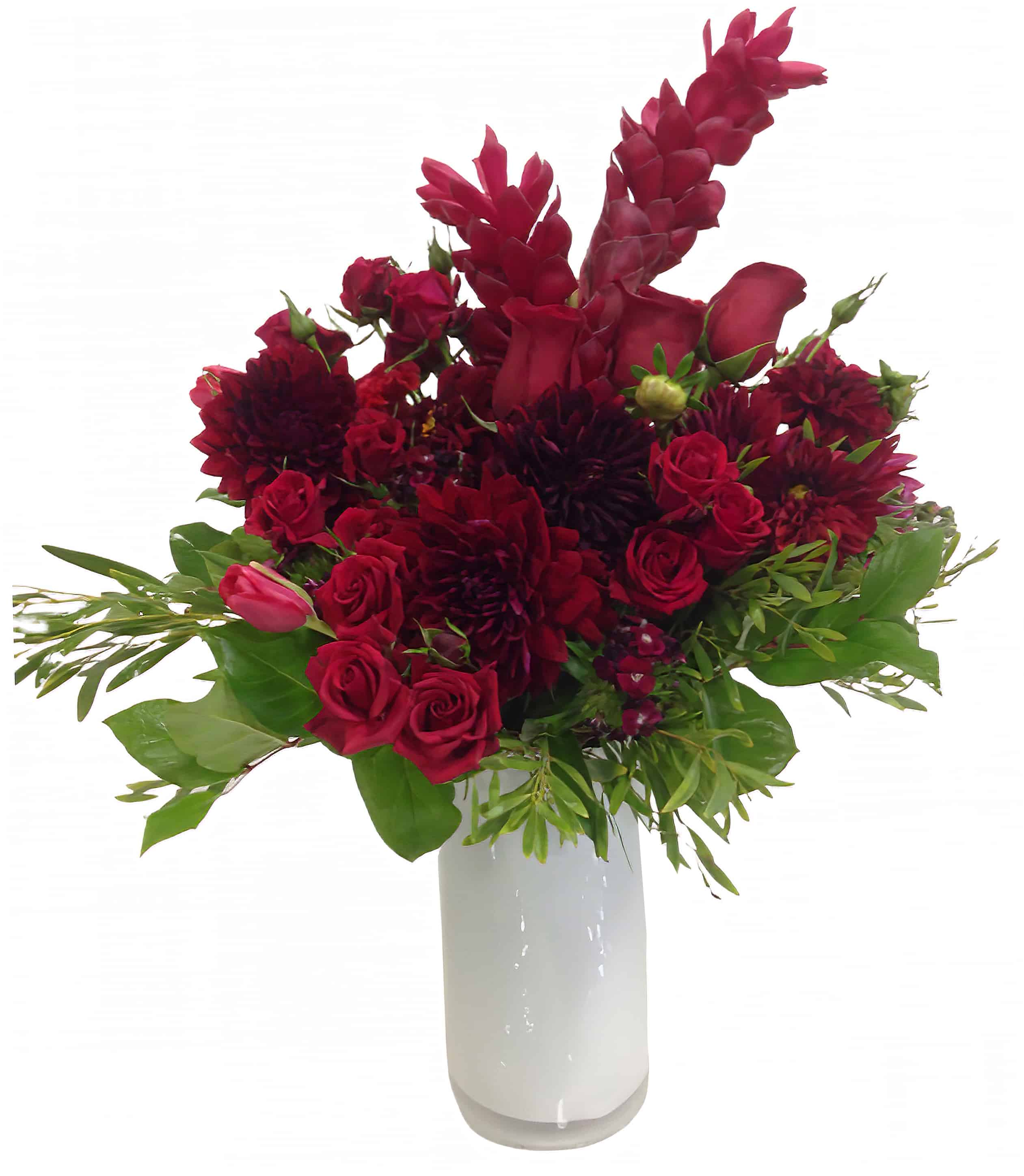 Cardinal Song Flower Arrangement