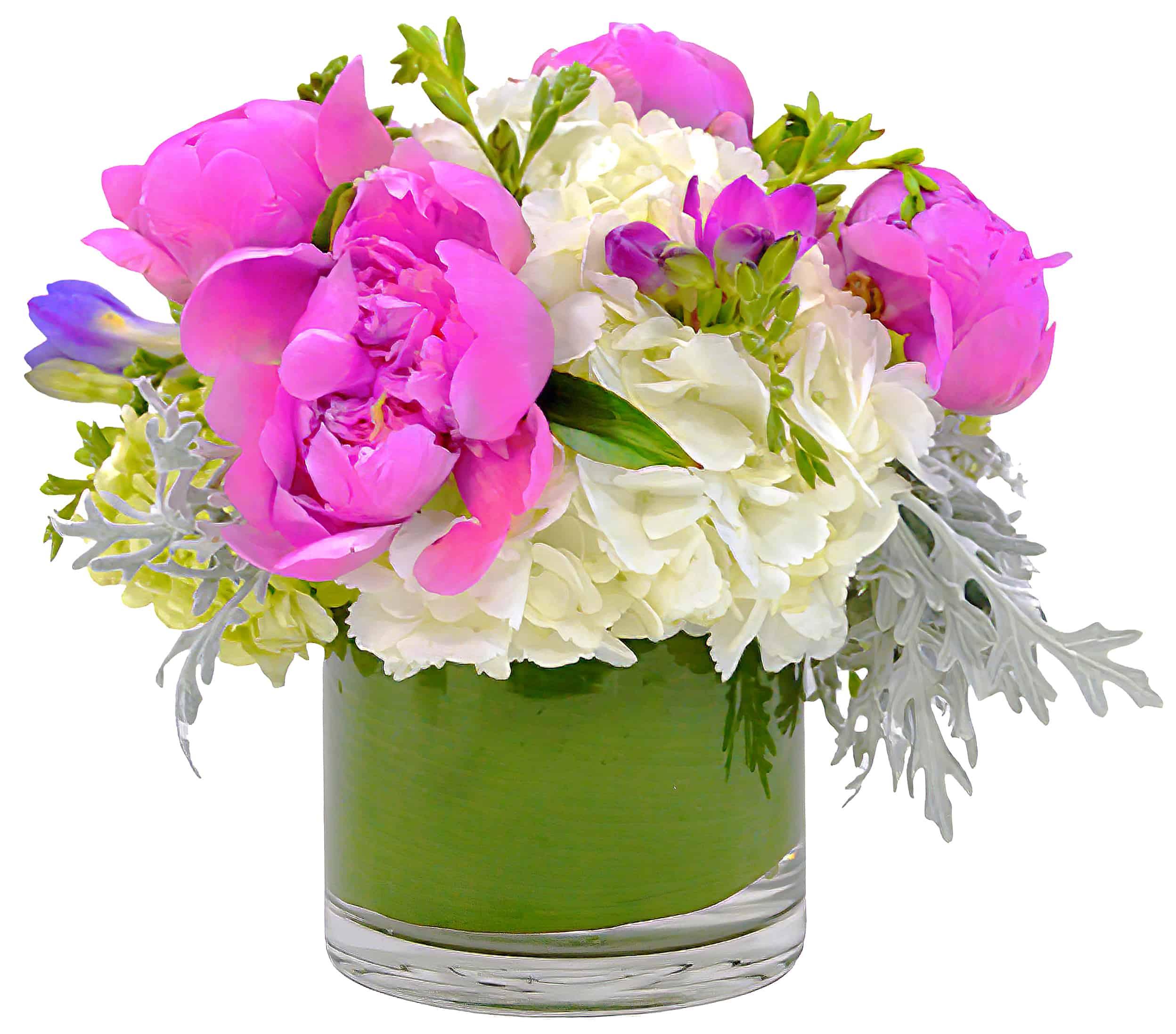 Pastel Peony Flower Arrangement