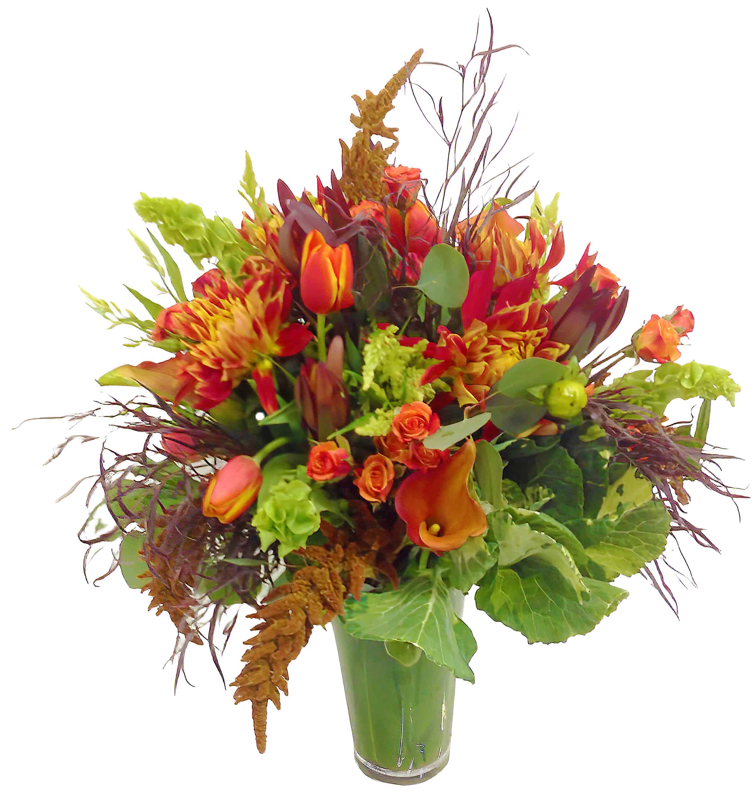 Firelight Floral Arrangement