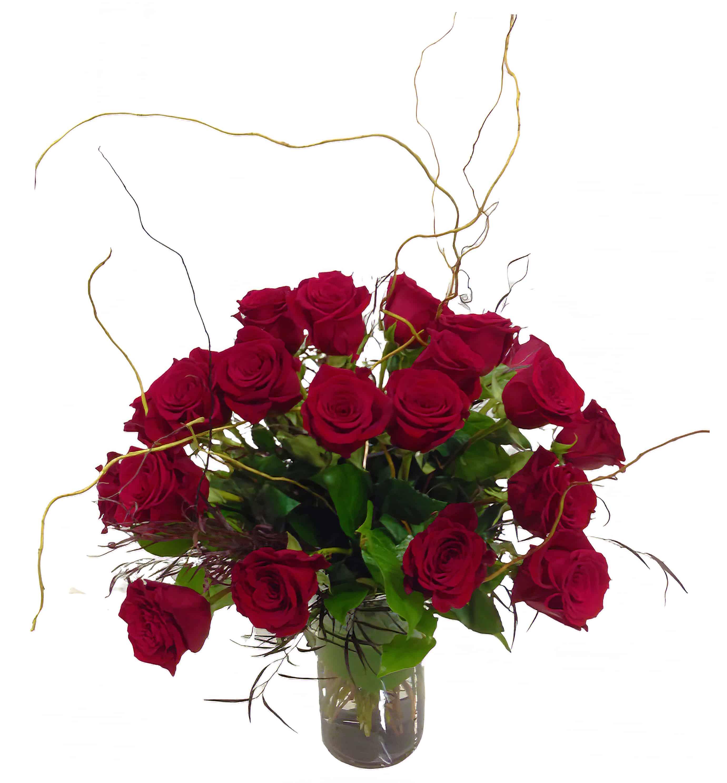 Romantic Two Dozen Red Roses