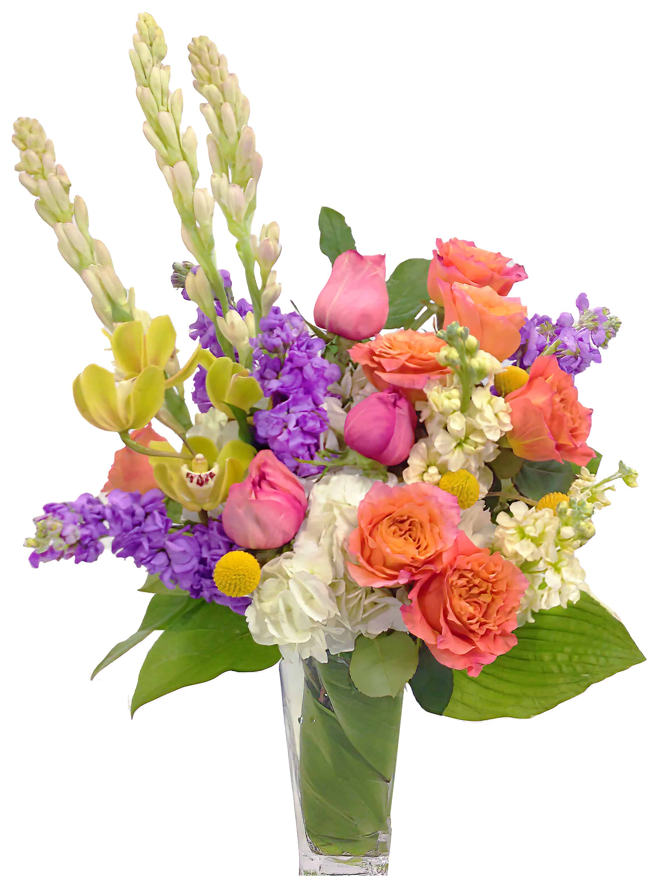 Bright Blossoms Flower Arrangement
