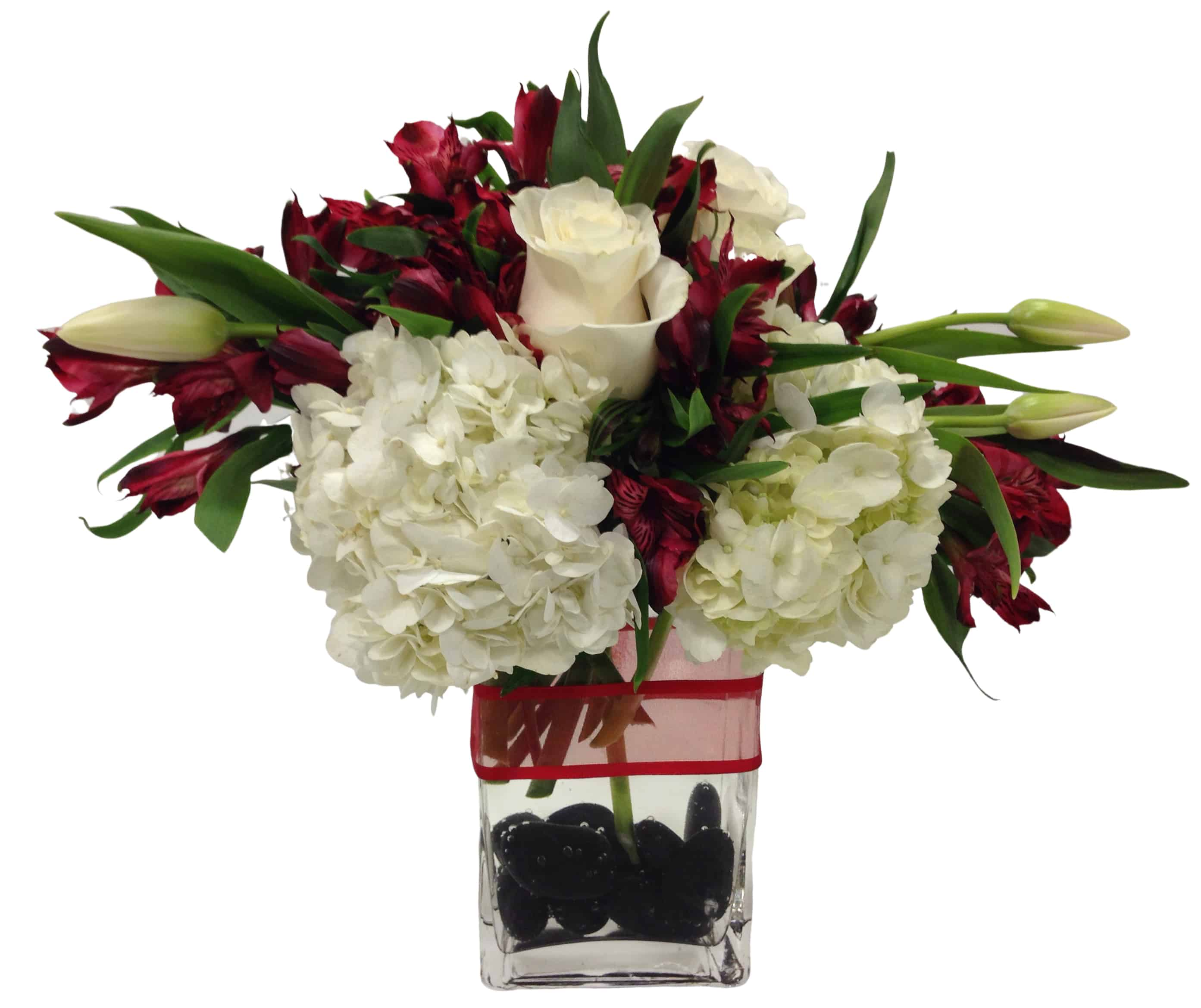 Red Line Flower Arrangement
