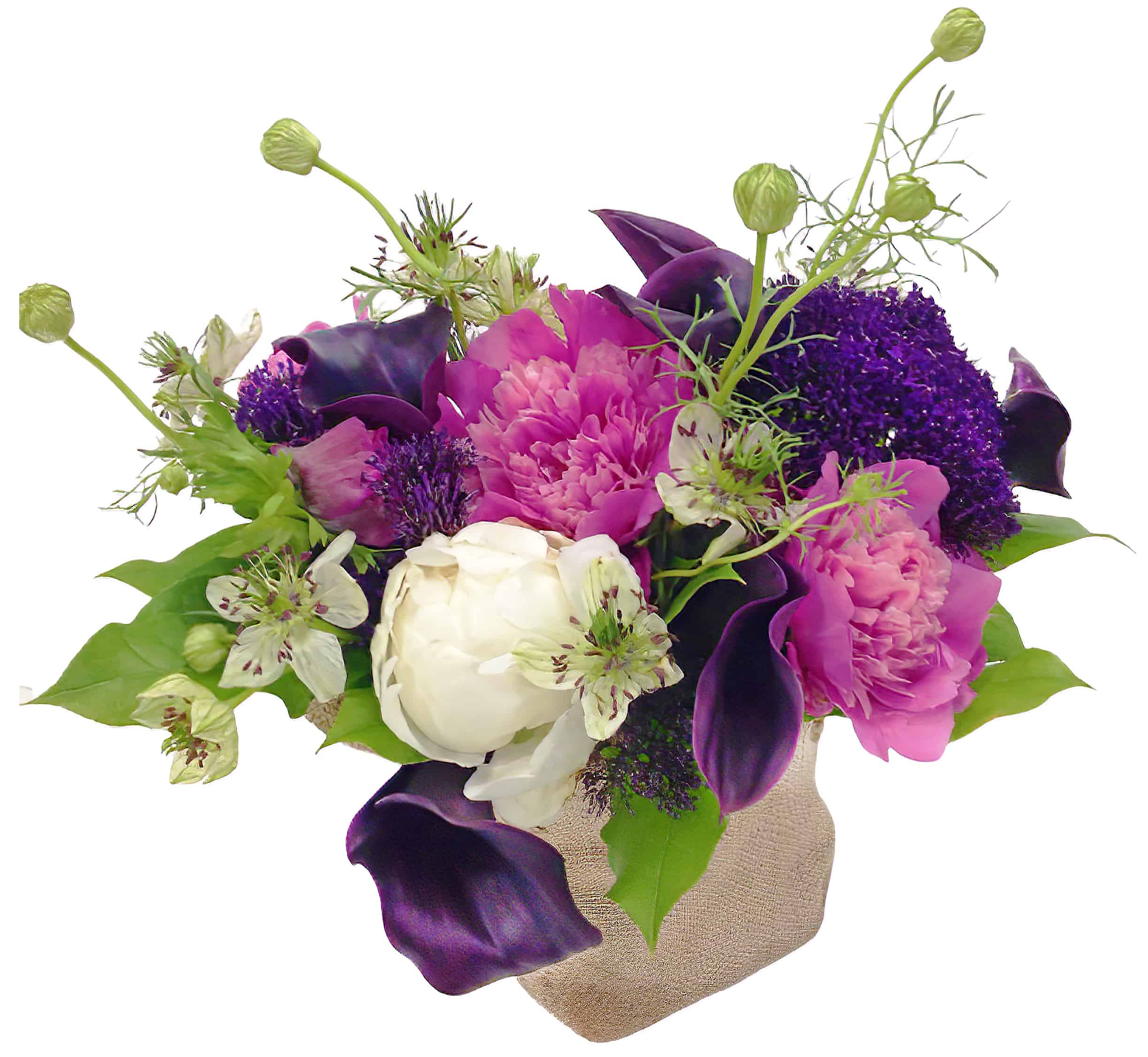 Purpulicious Peony Flower Arrangement