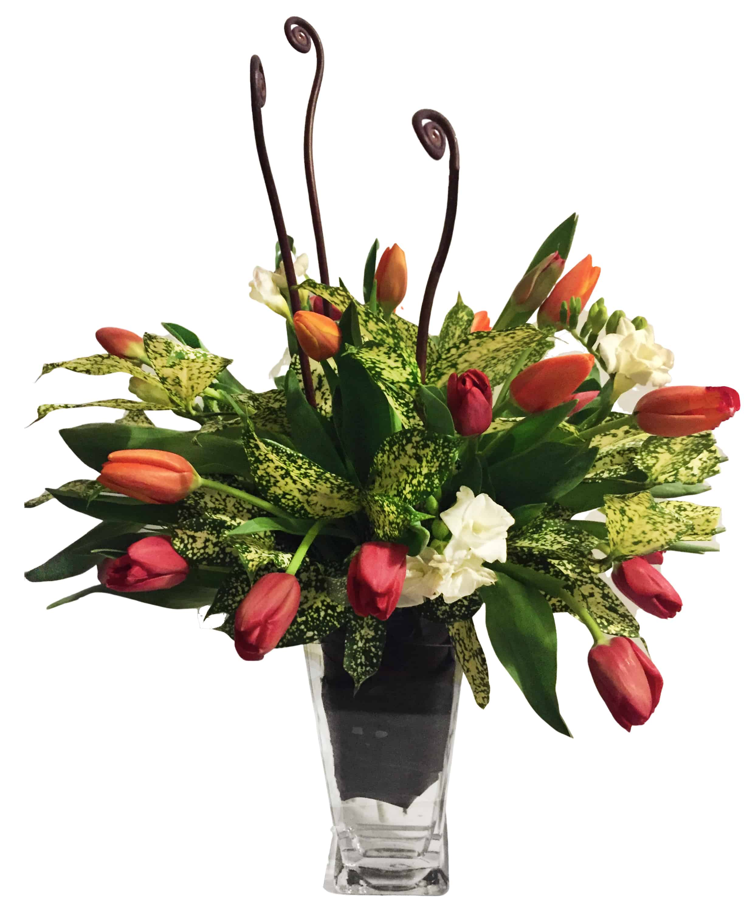 Spotted Tulip Flower Arrangement