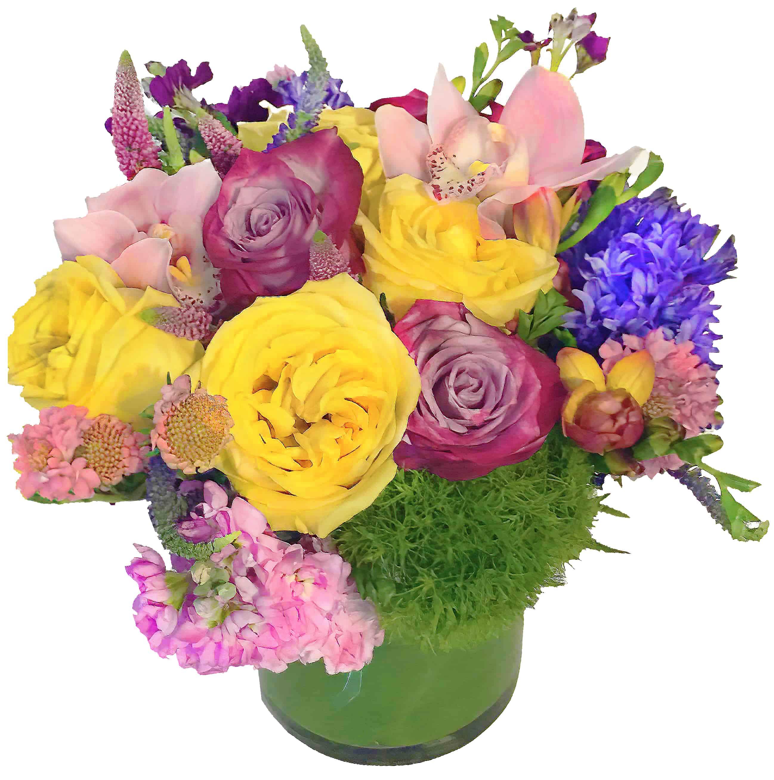 Purple Complement Flower Arrangement