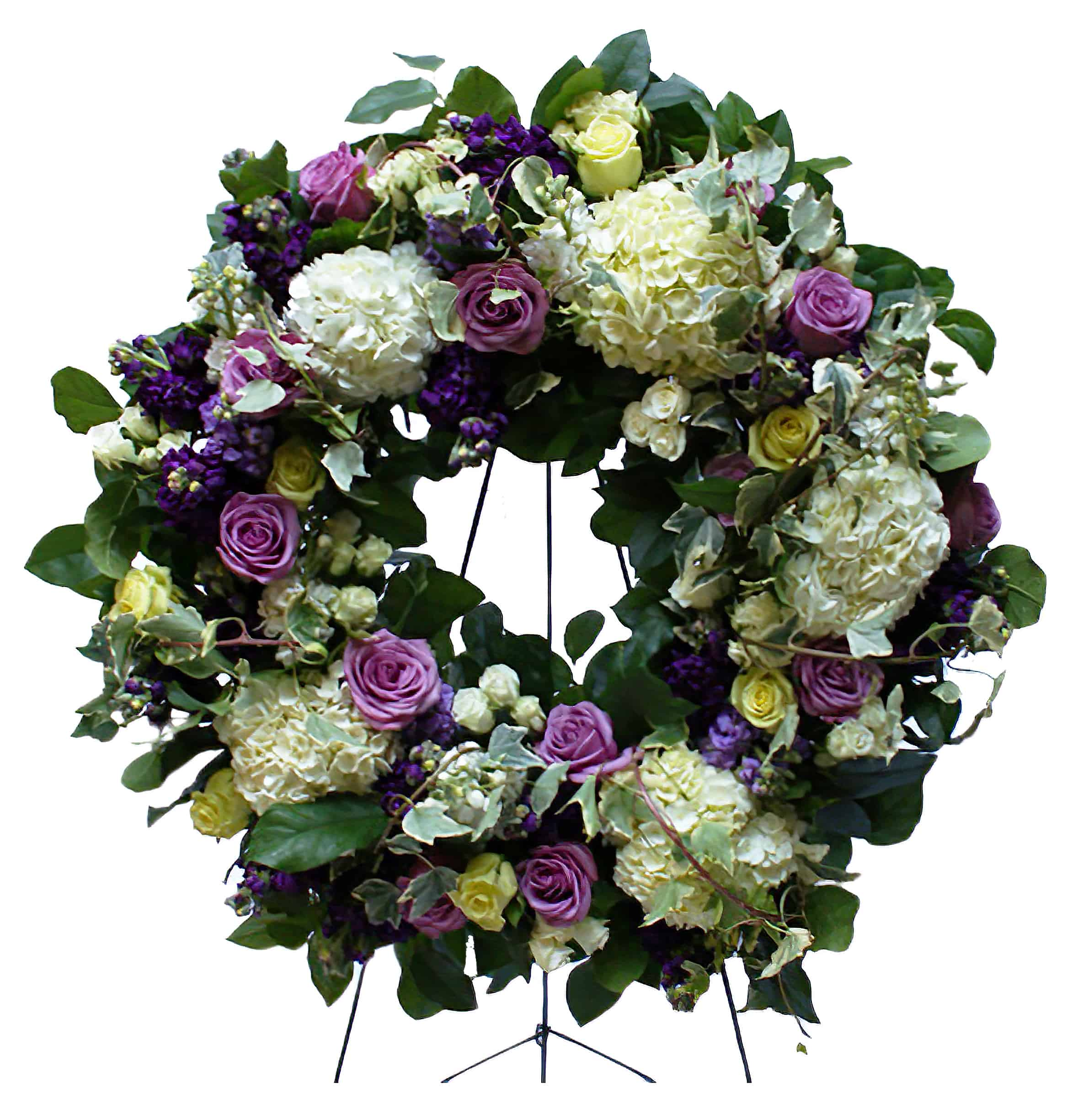Sympathy Wreath on Standing Easel