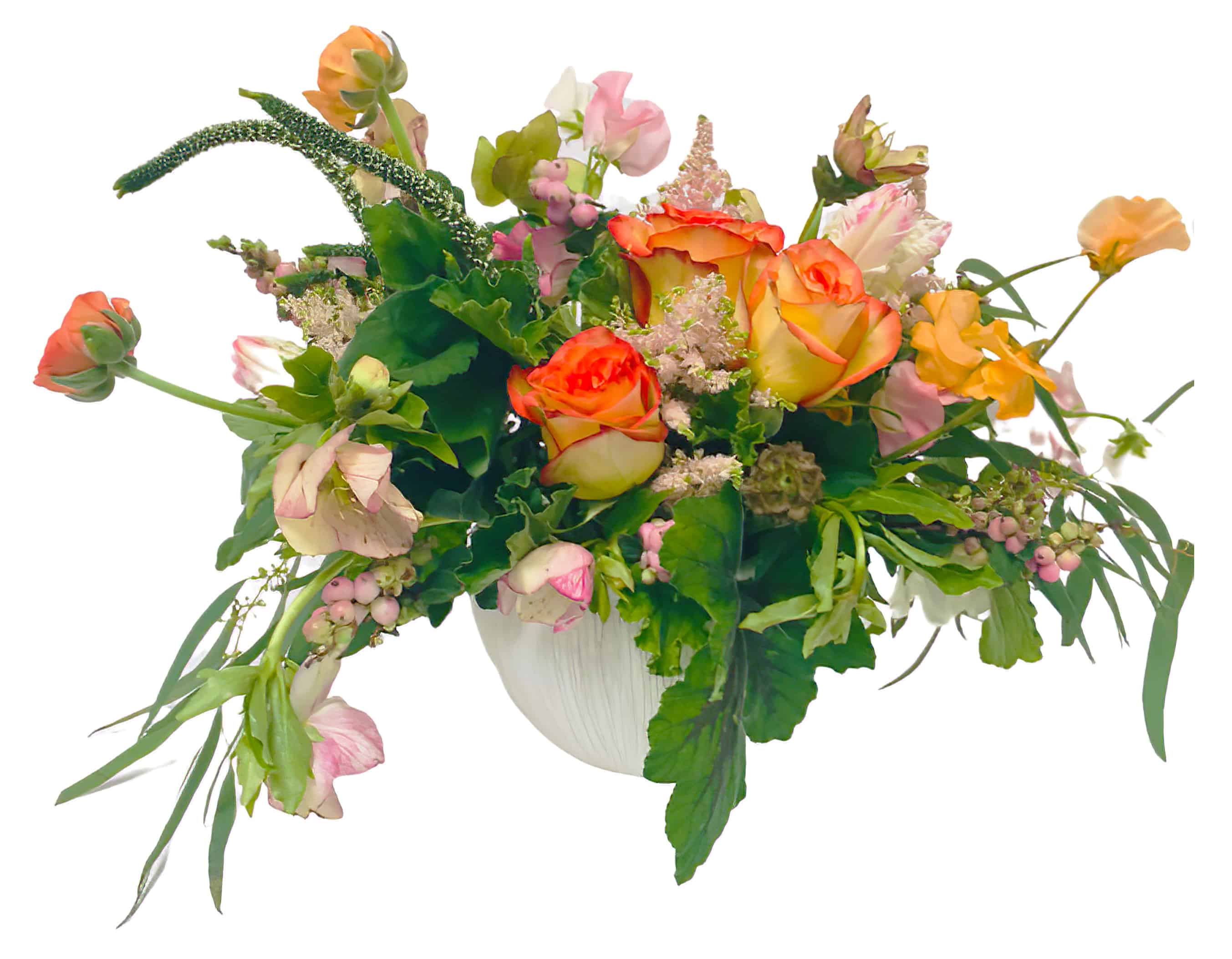 Cantelope Cascade Flower Arrangement