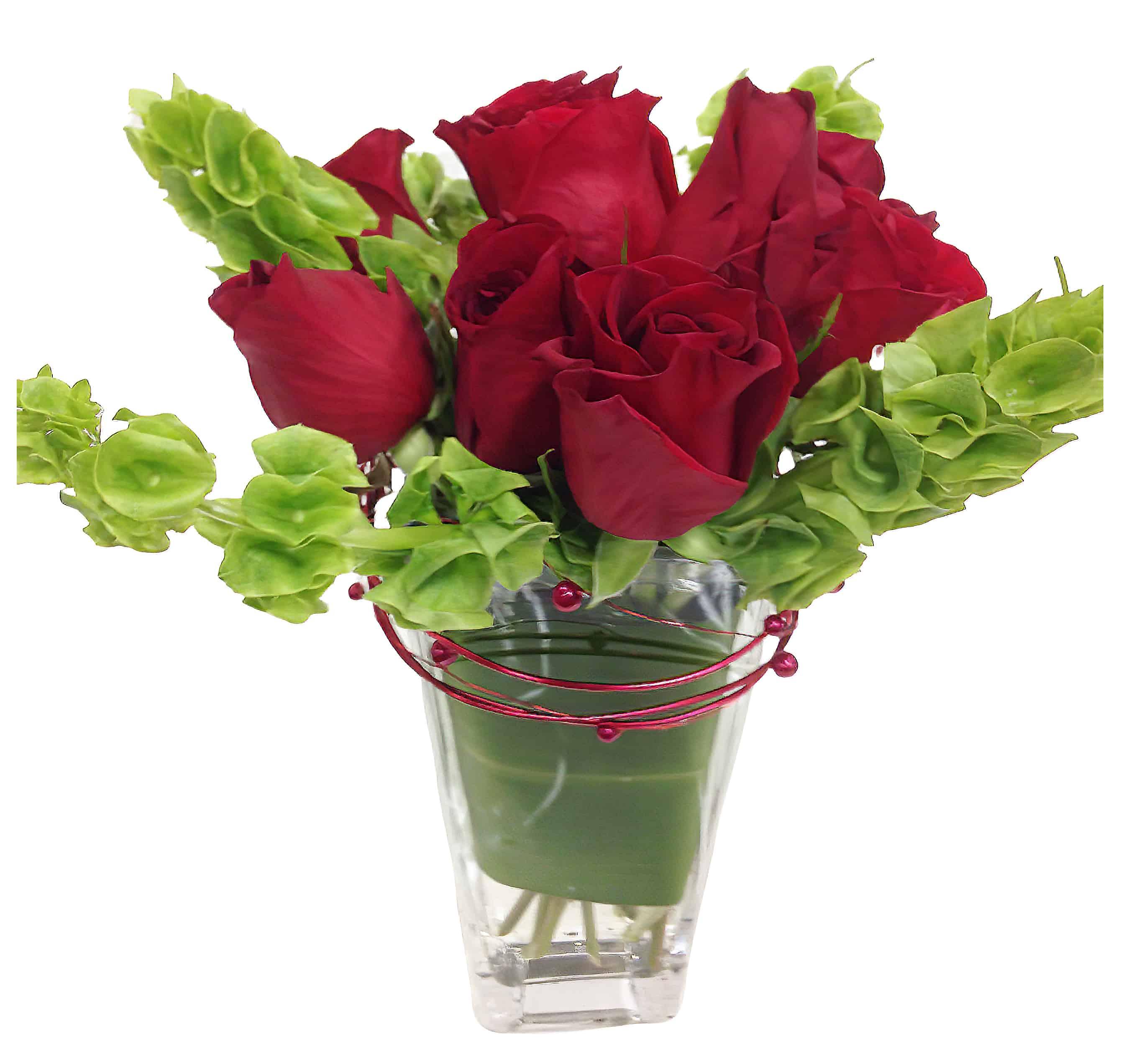 Topsy Turvy Roses Flower Arrangement