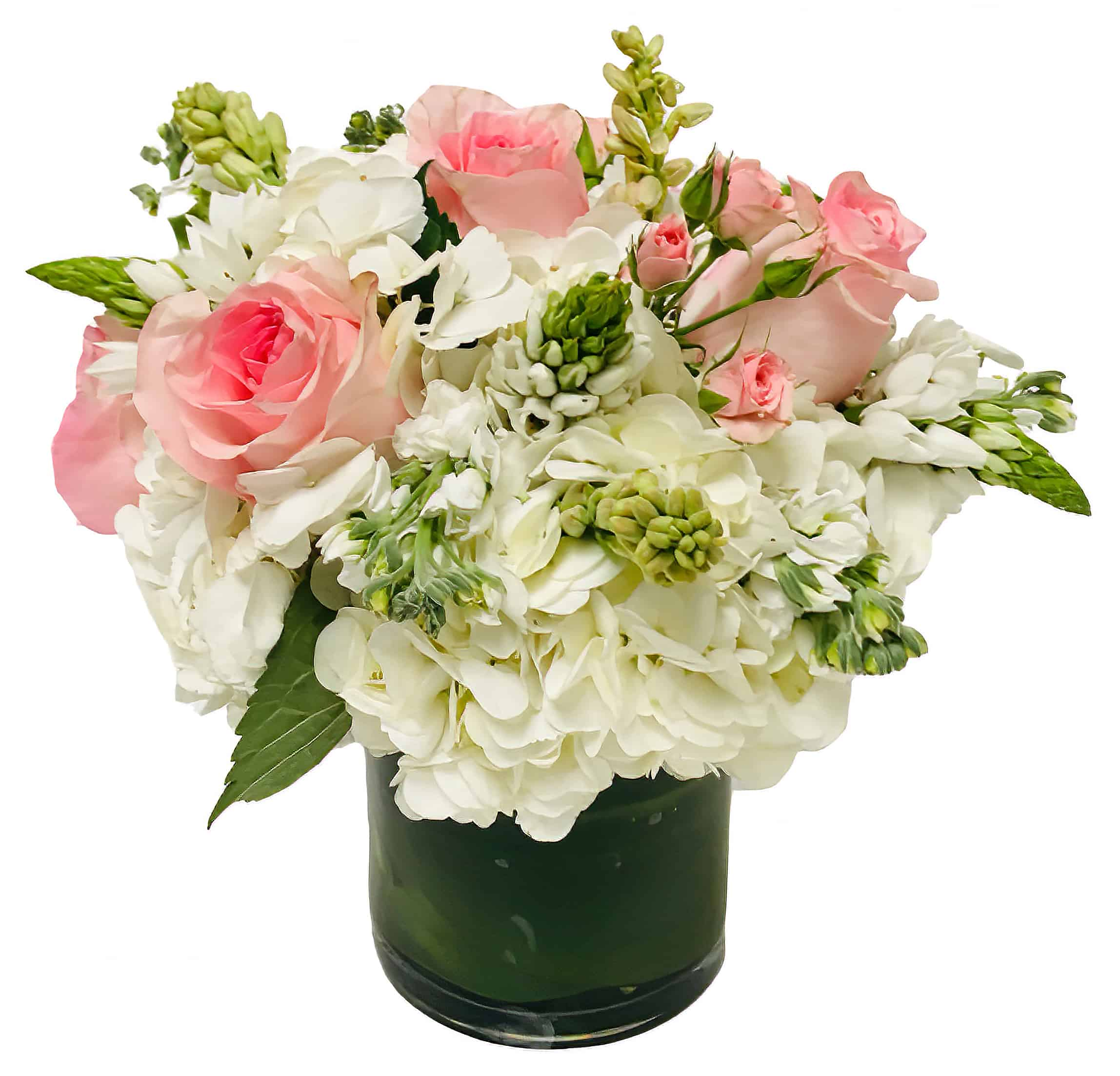 Celadon and Ivory Flower Arrangement