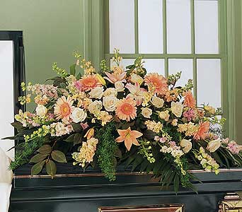 Half Casket Funeral Piece - Flower Arrangement