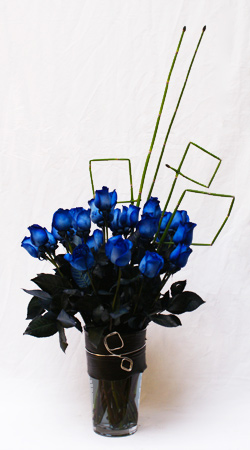 Blue Rose Flower Arrangement