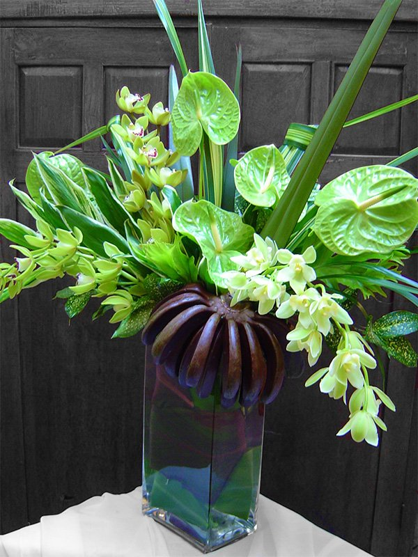 Green Tropical Floral Arrangement