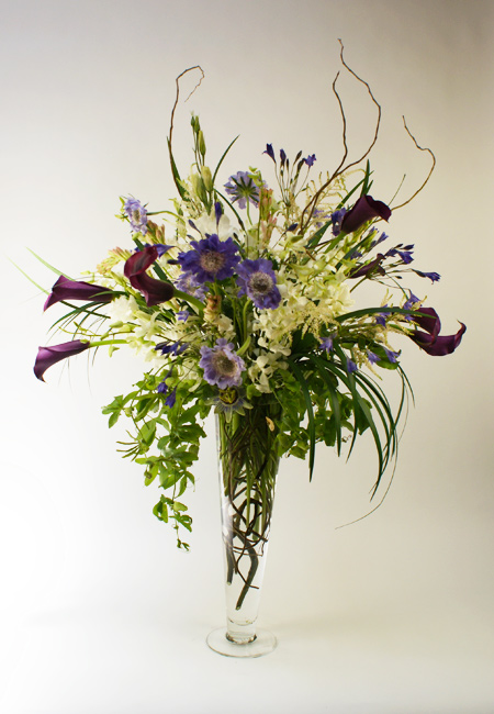 Lavender Passion Flower Arrangement