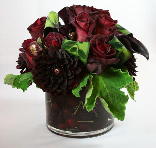 Conditor with Cherries - Flower Arrangement
