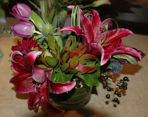 Marvelous Magenta Flower Arrangement