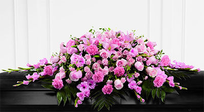 Full Casket Funeral Piece - Flower Arrangement