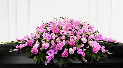 Full Casket Funeral Piece - Flower Arrangement