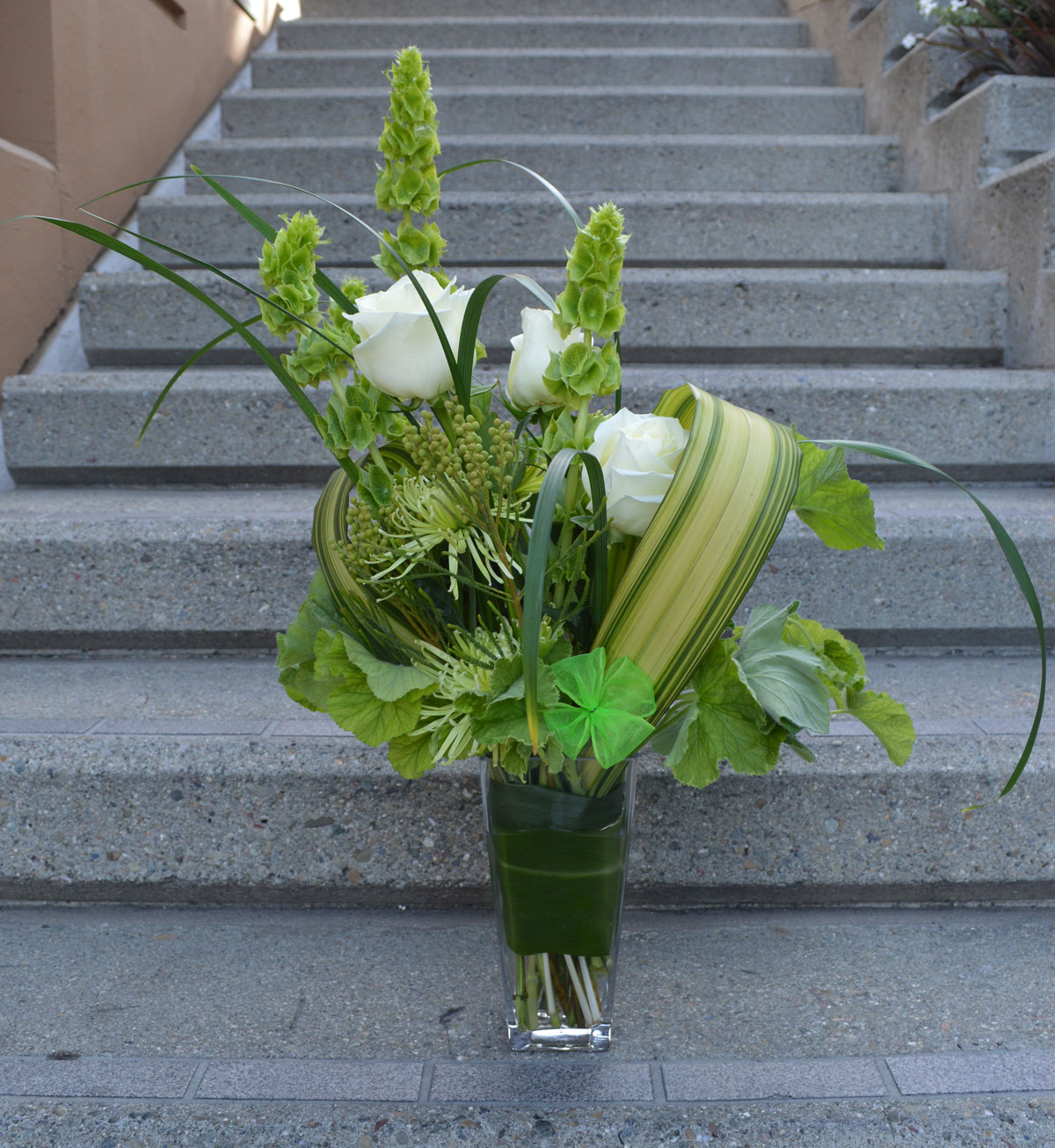 The Bells of Ireland Flower Arrangement