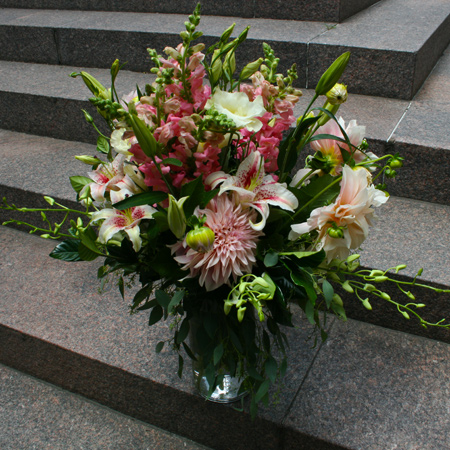 Whispers of Pink Flower Arrangement