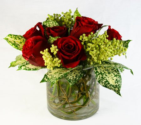 Dalmation Rose Flower Arrangement