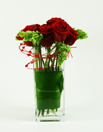 Topsy Turvy Roses Flower Arrangement
