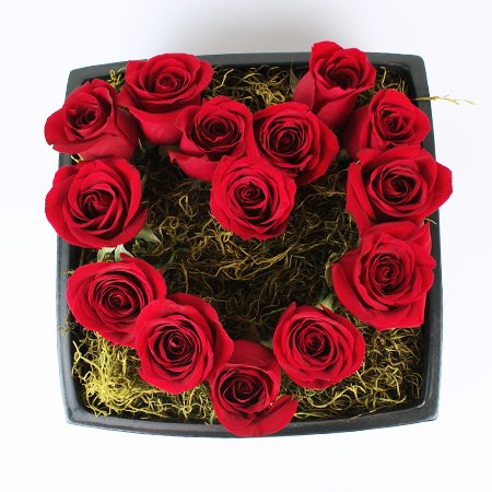 Boxed Heart Flower Arrangement