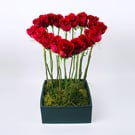 Tall Heart Floral Arrangement