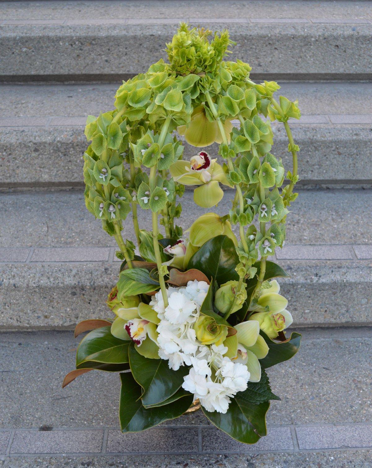 Bellezza Verde Alta Flower Arrangement $105 San Francisco Florist