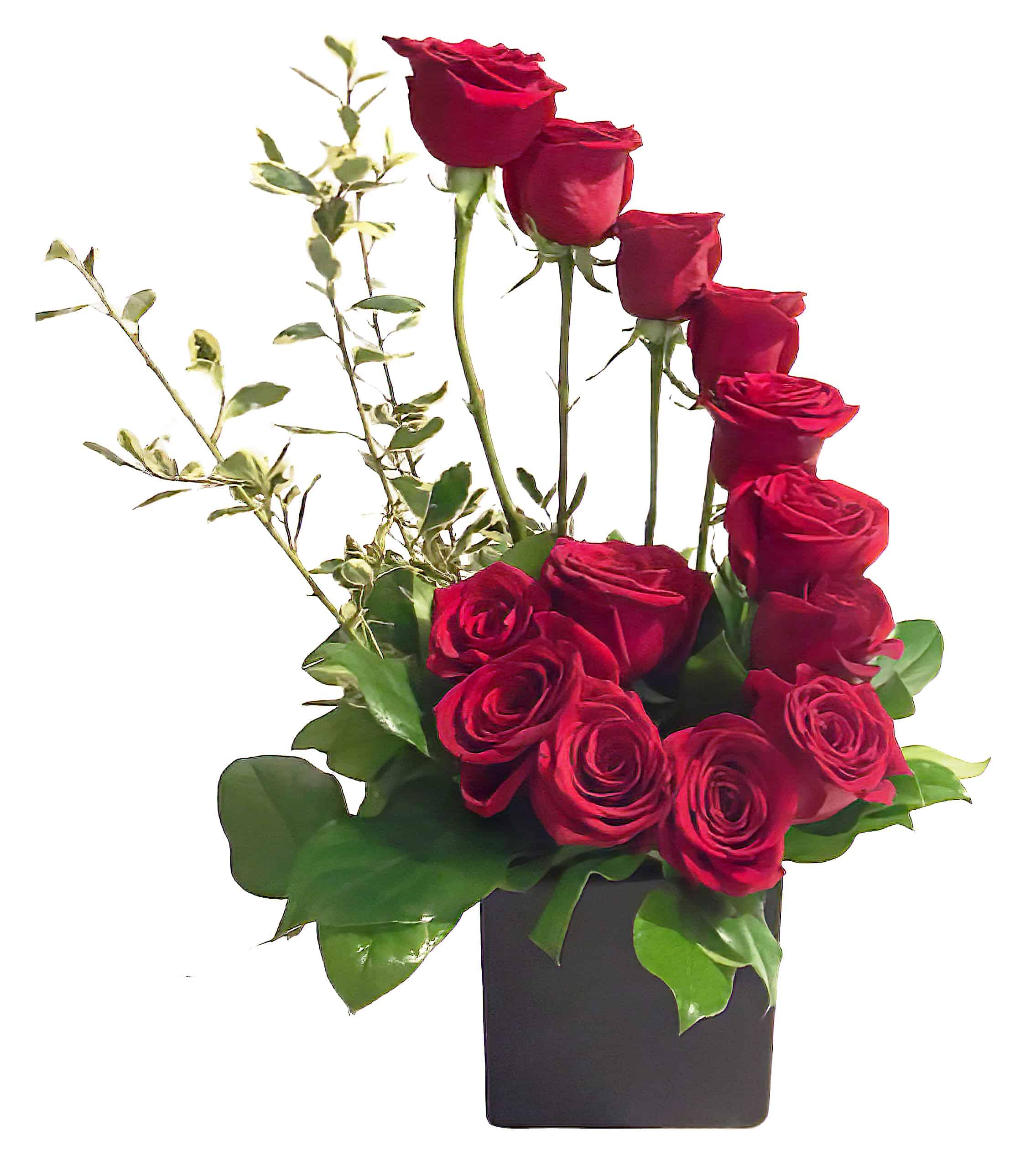 Fiori.Fiori Di Milano Dozen Roses Flower Arrangement