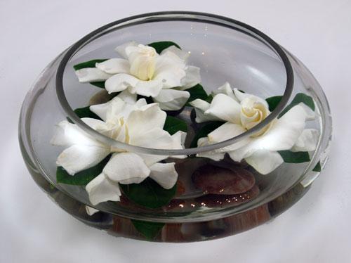 Floating Gardenia Bowl Flower Arrangement 52 San