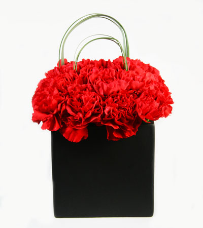 Red Box of Modern Love - Flower Arrangement | San Francisco Florist Since 1871 Free Bay Area and San Francisco Flower Delivery