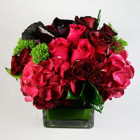 Midnight Romance Flower Arrangement