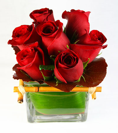 Bamboo Rose Flower Arrangement | San Francisco Florist Since 1871 Free Bay Area and San Francisco Flower Delivery