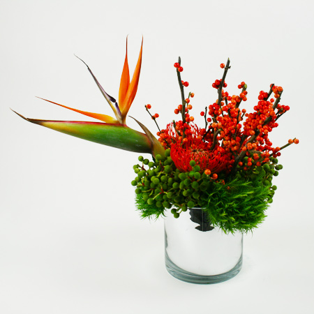 Sitting Bird Flower Arrangement
