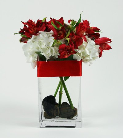 Red Line Flower Arrangement | San Francisco Florist Since 1871 Free Bay Area and San Francisco Flower Delivery