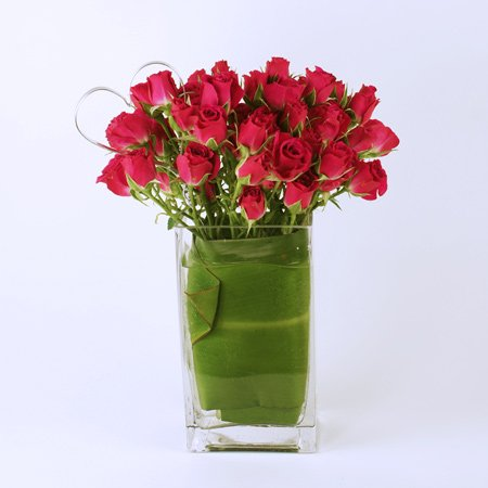 Hearts Ablaze Flower Arrangement