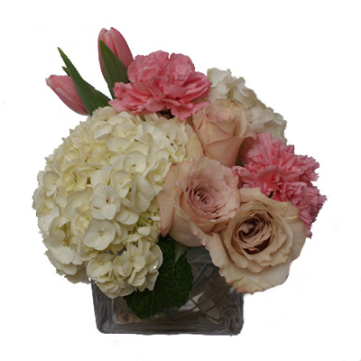 Pretty in Pink Flower Arrangement | San Francisco Florist Since 1871 Free Bay Area and San Francisco Flower Delivery