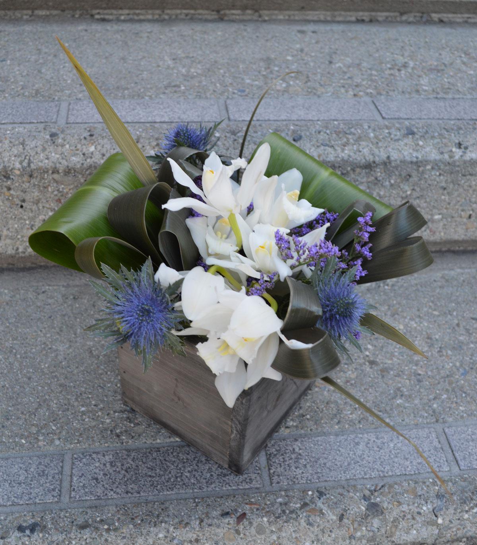 Orchid Box Flower Arrangement