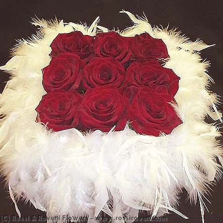 Number 9 Red Hot Roses Flower Arrangement