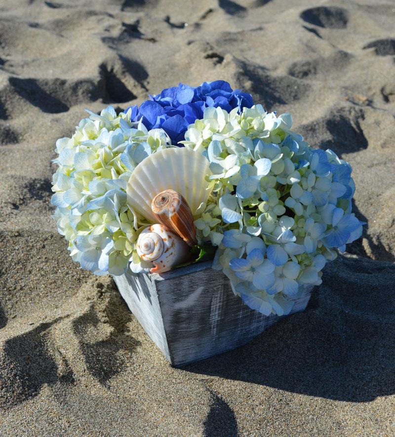 Seashells By the Shore Flower Arrangement