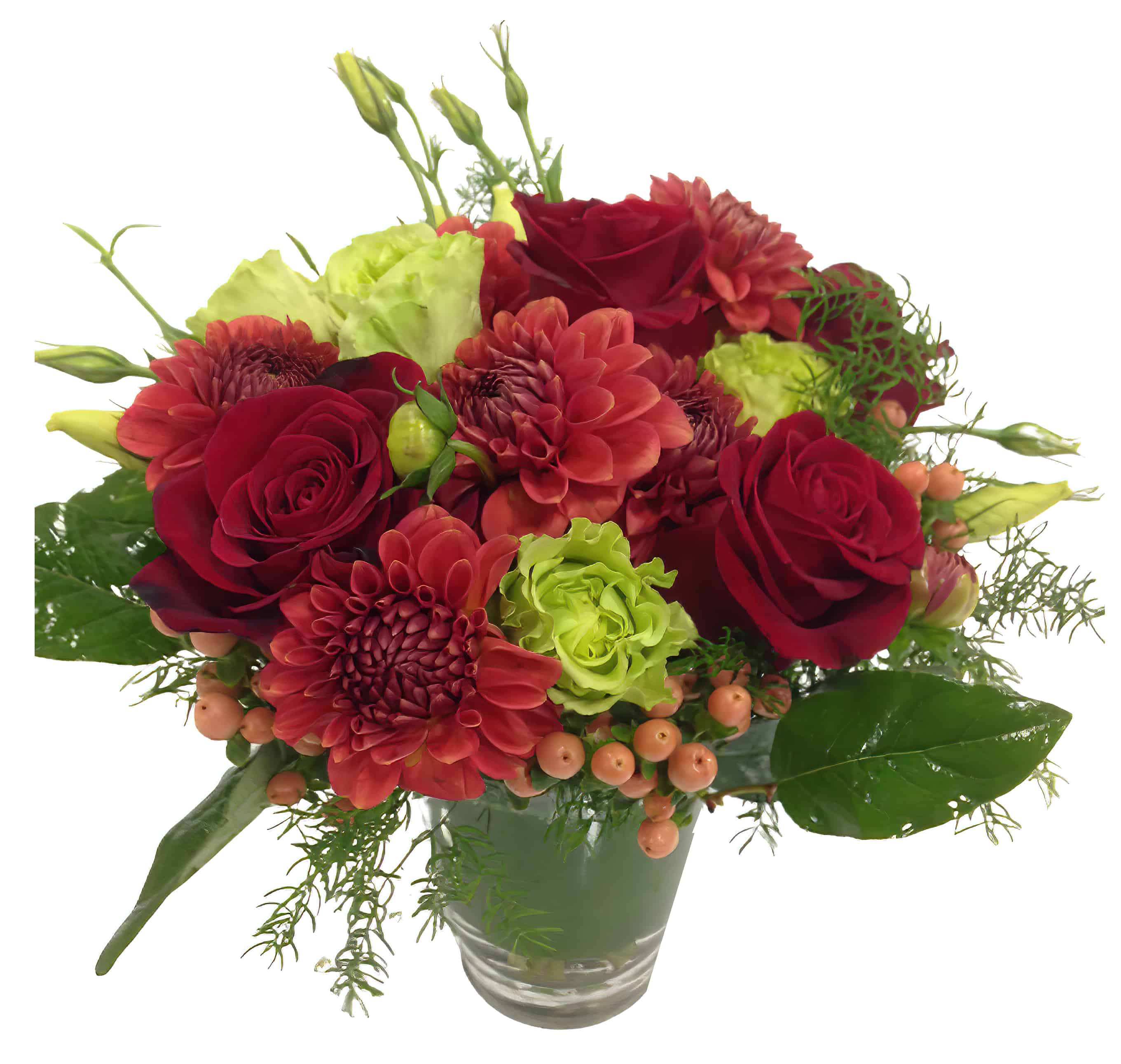 Raspberry Tea Flower Arrangement