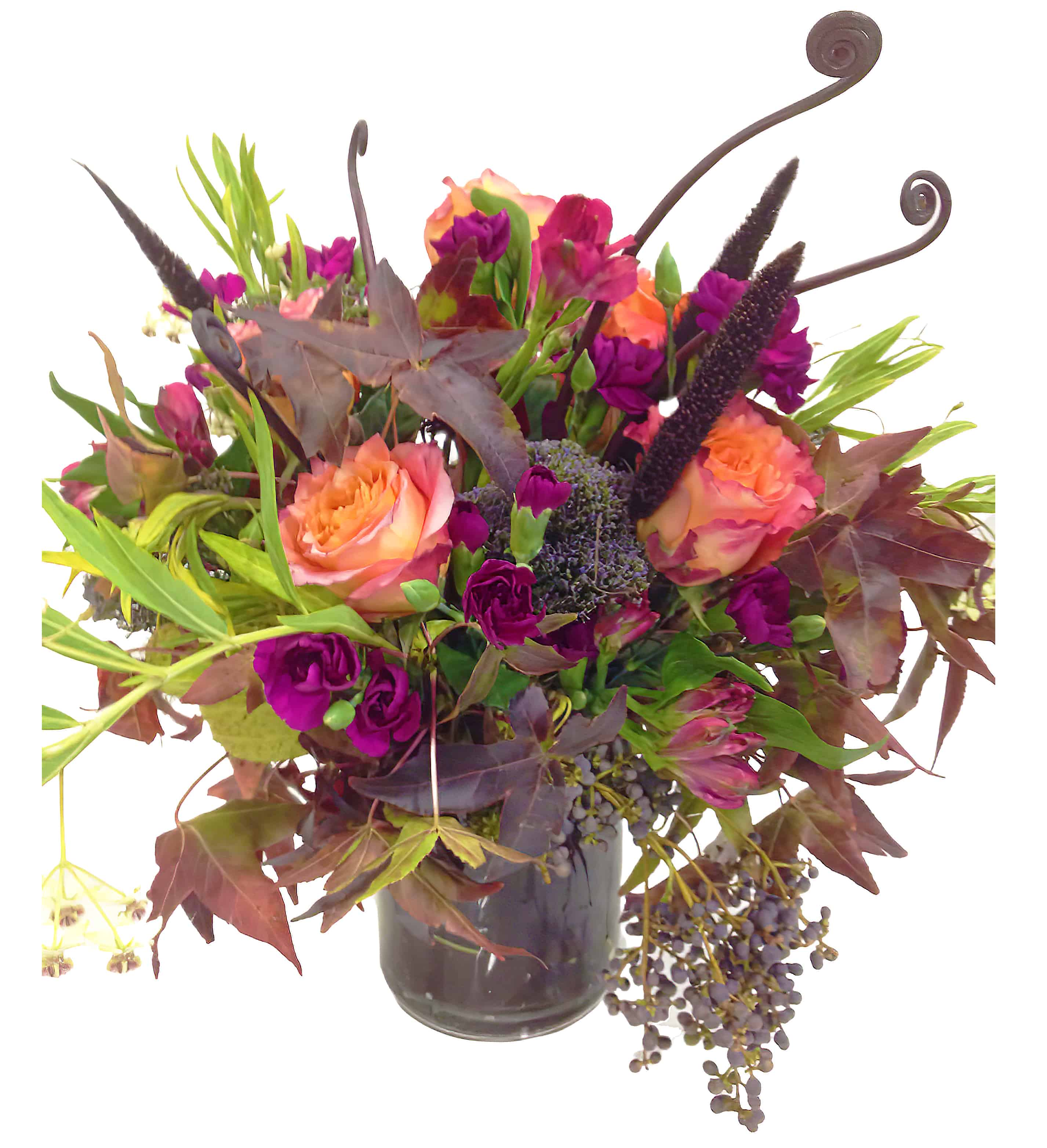 Violet Sunset Flower Arrangement