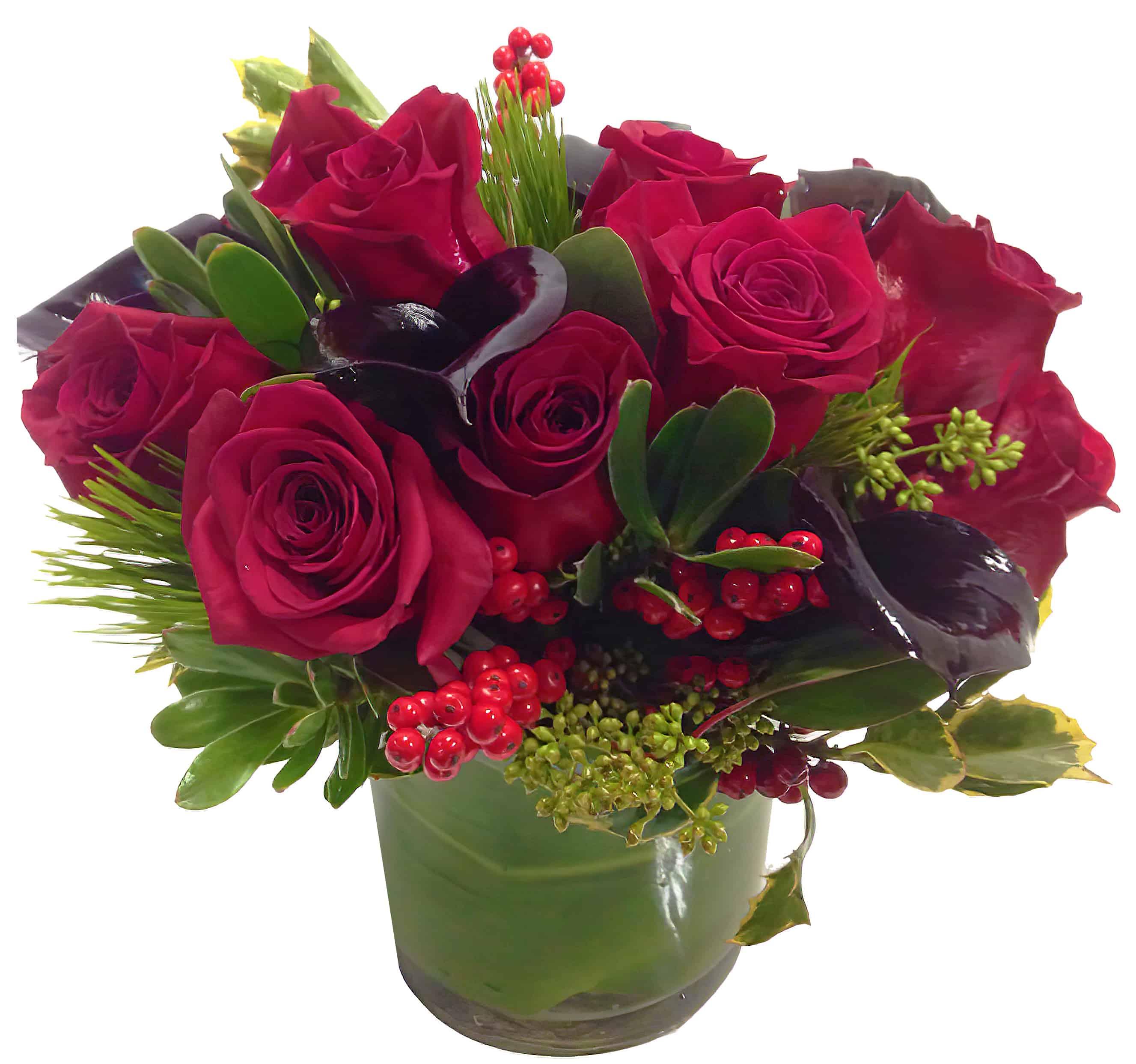 Seductive Red Flower Arrangement