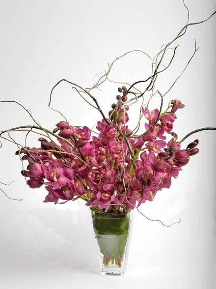 Tall Cymbidium Spray