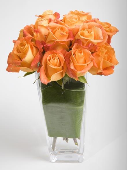 Peach & Green Rose Flower Arrangement